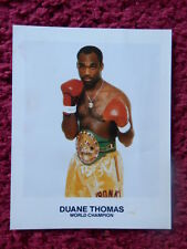 BOXER DUANE THOMAS SMALL AUTOGRAPHED PHOTO 1986