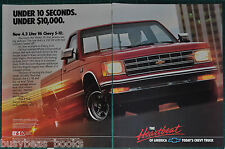 1988 Chevrolet S-10 2-page advertisement, CHEVROLET S-10 Pickup, Chevy