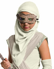 STAR WARS Rey Eye Mask With Hood Set CHILD GIRLS SIZE Force Awakens Costume