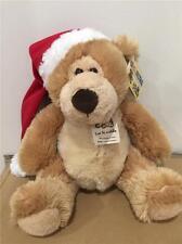 """KORIMCO teddy bear Christmas  """"Sasha""""   25cm tall  Brand New"""