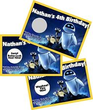 WALL-E PERSONLIZED SCRATCH OFF OFFS PARTY GAME GAMES CARDS BIRTHDAY FAVORS