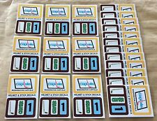 1979-80 Topps NHL Hockey Wax Pack Sticker Insert Washington Capitals Lot Of 25