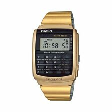 Casio CA506G-9A Gold Tone Stainless Steel Calculator Watch - Vintage Style
