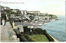 Ventnor, Isle of Wight, England Max Ettlinger Postcard - view from west