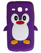 Hot Pink Silicone Penguin Phone Case / Cover for Samsung Galaxy Note II N7100