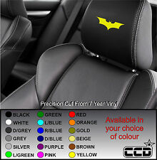 BATMAN CAR SEAT / HEADREST DECALS - LOGO BADGE - Vinyl Stickers - Graphics X5