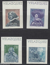 VELAZQUEZ - ** 1344/1347 SH - AÑO 1961 - SELLOS SIN DENTAR DE LAS HOJAS BLOQUE