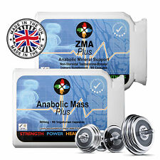 ANABOLIC -ZMA BODYBUILDING SUPPLEMENT PURE MUSCLE GAINS TESTOSTERONE NON STEROID