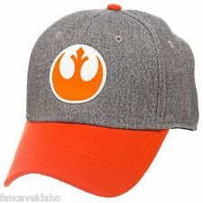Star Wars Rebel Alliance Symbol Embroidered Logo Stretch Flex Fit Cap Hat