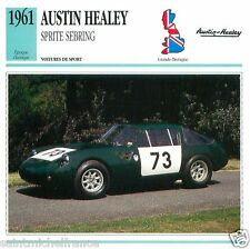 AUSTIN-HEALEY SPRITE SEBRING 1961 1965 CAR VOITURE Great Britain CARD FICHE