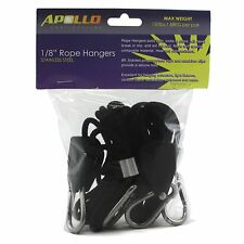 "Apollo Horticulture 1/8"" Hydroponic Stainless Steel Grow Light Rope Hangers"