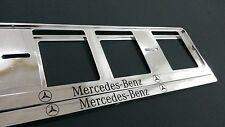 2X MERCEDES-BENZ EUROPEAN LICENSE NUMBER PLATE SURROUND FRAME HOLDER.
