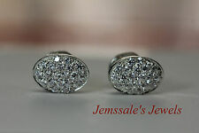 jem: BELLA SWAN'S DIAMOND-Studded Oval EARRINGS in Fine Silver not 14k