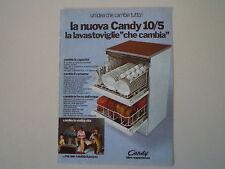 advertising Pubblicità 1969 LAVASTOVIGLIE CANDY 10/5