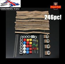 246pc Electronic Parts Component Resistors Switch Button Kit For Arduino NEW UK