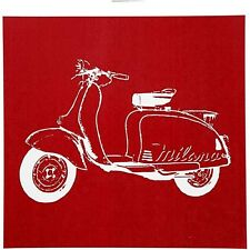 Screen Stencil - Mod Moped Scooter Bike Design - Print Textile Paper Canvas Wood