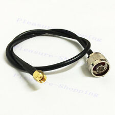 RP SMA male plug to N Male RG58 pigtail cable 100cm 1m for wifi wireless router