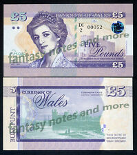 Wales (Great Britain), 5 Pounds, 2016, Private Issue, UNC   Princess Diana