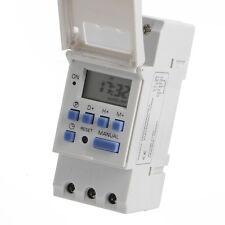 Rail DIN Relais minuterie Commutateur Puissance LCD numérique programmable DC