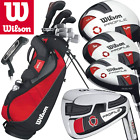 """GRAPHITE"" WILSON MENS PROFILE VF COMPLETE GOLF SET + STAND BAG +FREE GIFT !!!!"