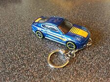 Diecast Ford Mustang GT 2015 Blue Toy Car Keyring Keychain