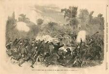 Battle of Baker's Creek, Tenn - Defeat of Rebels  - Civil War -  Leslie's - 1863