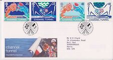 GB ROYAL MAIL FDC FIRST DAY COVER 1994 CHANNEL TUNNEL STAMP SET BUREAU PMK