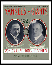 1923 World Series - (Yankees & Giants) Poster of Program  - 8x10 Color Photo