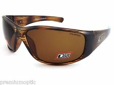 DIRTY DOG Polarised RIDGE Wrap Sunglasses LINE BROWN / Brown POLAR 53209