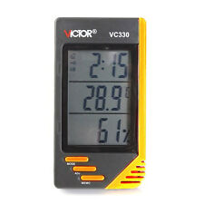Digital LCD Humidity Hygrometer Indoor Temperature Thermometer Meter VC330 New