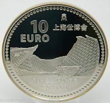 2010 ESPAÑA 10 EUROS EXPO SHANGHAI PABELLON ESPAÑA 10 EURO SILVER (7339)