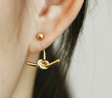 Fashion Jewelry Knot Ear Jacket Earrings Punk Claw Gold Double Sided Earrings