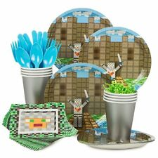 Minecraft Inspired Medieval Standard Kit (Serves 8) - Party Supplies