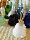 Lot of 9 Avon Bell Decanters starting at 1976 ruby red green blue milk glass