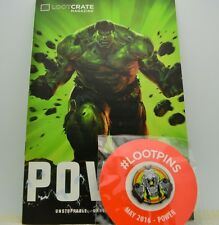 Rare Loot Crate Issue 35 May 2016 Magazine & Pin Back Button Power Issue!