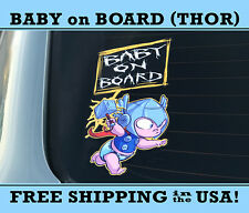 Thor Baby On Board Bumpersticker Decal