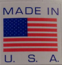 "MADE IN U.S.A. American Flag product decals 5/8"" by 5/8"" ROLL OF 500 stickers"