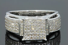 .65 CARAT REAL GENUINE DIAMONDS WOMEN WHITE GOLD FINISH ENGAGEMENT WEDDING RING