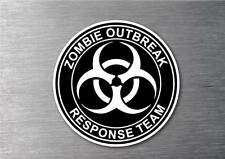Zombie Outbreak Response Team sticker black water & fade proof 7 year Vinyl