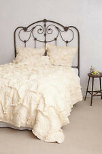 Anthropologie Rivulets Queen Quilt with 4 shams