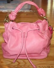 COACH Rare AUTHENTIC $598 RESORT XL - Large Pink Leather Drawstring Bucket Bag