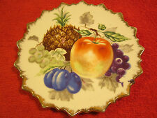 "7"" Porcelain Collector Plate FRUIT Grapes PINEAPPLE Plums [Z63]"