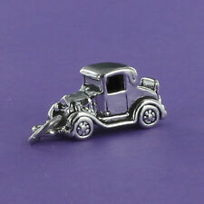 Model T Ford Car Charm Sterling Silver for Bracelet Antique Auto Tin Lizzie