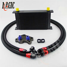 AN10 22 Row Engine Oil Cooler Kit For BMW Mini Cooper S R53 Supercharger Black