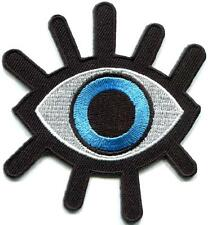 Eye eyeball tattoo wicca occult goth punk retro applique iron-on patch S-1045