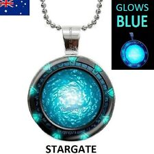 Glow in the Dark Stargate Atlantis Necklace GLOWS BEAUTIFUL BLUE Large 30mm size