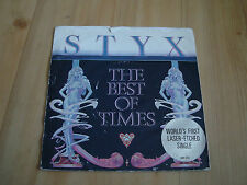 "STYX-THE BEST OF TIMES  [A&M 7""]FIRST LASER-ETCHED SINGLE"