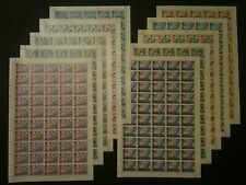 AJMAN - MNH Full Sheets in Complete Sets, Michel Catalog #31-40