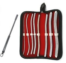 "Hegar Urethral Sound Set 8Piece With Vibrating Urethral Sound 7"" Stainless steel"