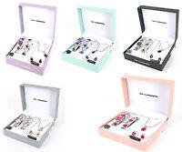 Ladies Watch Set Necklace Bracelet Earrings Gift Set Pendant Silver Women Girls